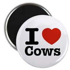 """I Love Cows 2.25"""" Magnet (10 pack)"""