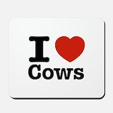 I Love Cows Mousepad