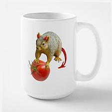 Devil Squirrel Stealing Tomato Large Mug