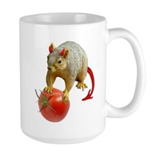 Devil Squirrel Stealing Tomato Mug