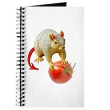 Devil Squirrel Stealing Tomato Journal