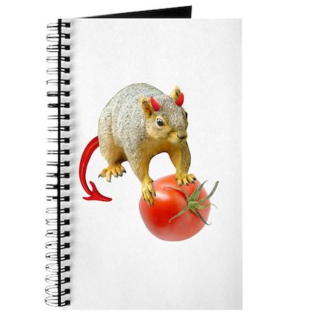 Devil Squirrel Stealing Tomato Journal