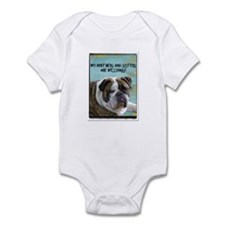 brothers and sisters are bulldogs Infant Bodysuit