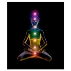Yoga and the chakras Poster