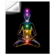 Yoga and the chakras Wall Decal