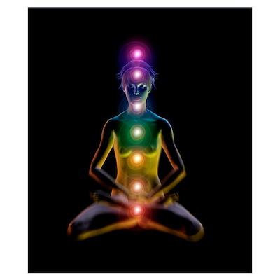 Yoga and the chakras Poster