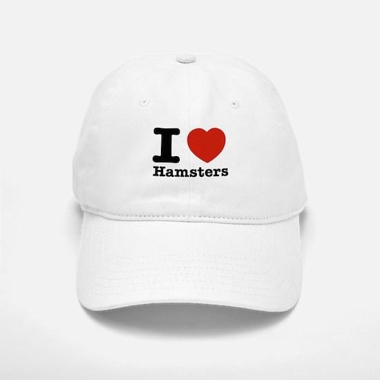 I Love Hamsters Baseball Baseball Cap
