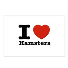 I Love Hamsters Postcards (Package of 8)