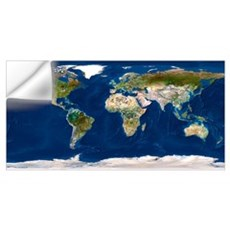 Whole Earth map Wall Decal