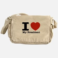 I Love My President Messenger Bag