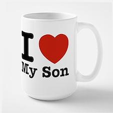 I Love My Son Large Mug