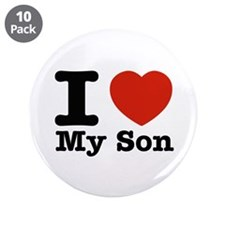 """I Love My Son 3.5"""" Button (10 pack)"""