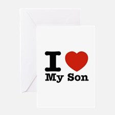I Love My Son Greeting Card