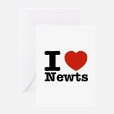 I Love Newts Greeting Card