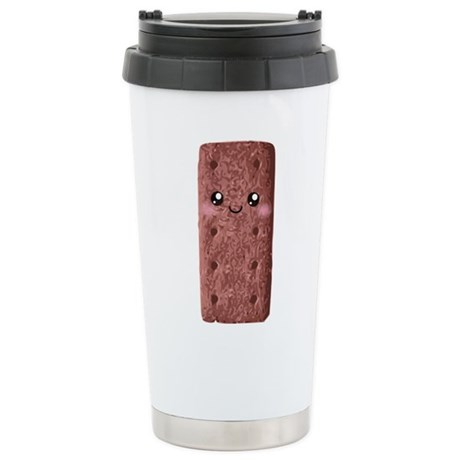 Cute Chocolate Cookie Stainless Steel Travel Mug