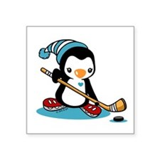 "Ice Hockey Square Sticker 3"" x 3"""