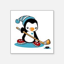 "Ice Hockey Square Sticker 3"" x 3"""