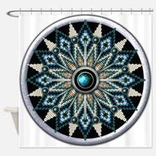 Native American Rosette 04 Shower Curtain