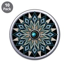"Native American Rosette 04 3.5"" Button (10 pack)"