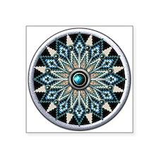 """Native American Rosette 04 Square Sticker 3"""" x 3"""""""