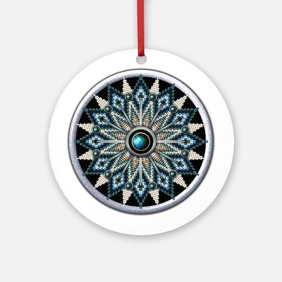 Native American Rosette 04 Ornament (Round)