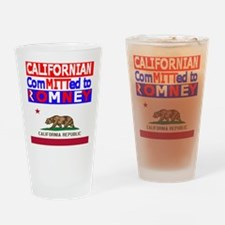 californiaromneyflag.png.png Drinking Glass