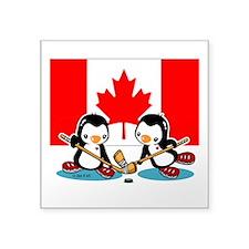 Penguins Square Sticker 3&Quot; X 3&Quot;