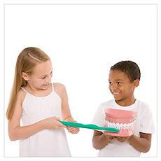 Learning dental hygiene Poster