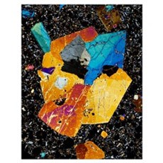 Twinned augite crystals Poster