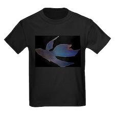 Abstract Betta Fish - black T