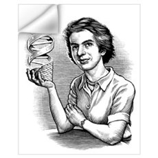 Rosalind Franklin, British chemist Wall Decal