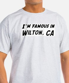 Famous in Wilton Ash Grey T-Shirt