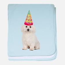 Bichon Frise Birthday baby blanket