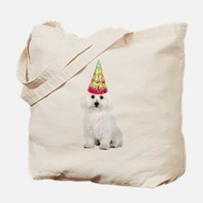 Bichon Frise Birthday Tote Bag