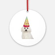 Bichon Frise Birthday Ornament (Round)