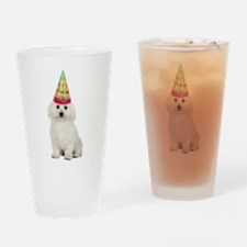Bichon Frise Birthday Drinking Glass
