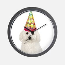 Bichon Frise Birthday Wall Clock