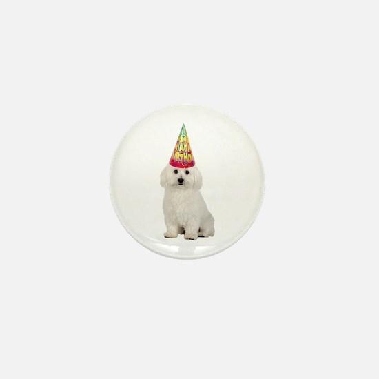 Bichon Frise Birthday Mini Button