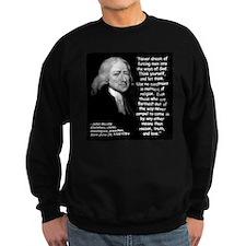 Wesley Religion Quote 2 Sweatshirt