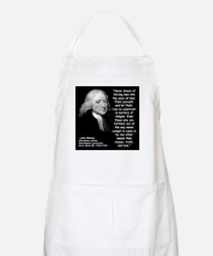 Wesley Religion Quote 2 Apron