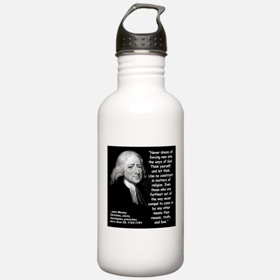Wesley Religion Quote 2 Water Bottle
