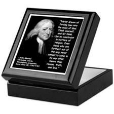Wesley Religion Quote 2 Keepsake Box