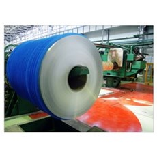 Reel of tin coated steel Poster