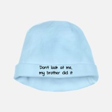Don't look at me, my brother did it baby hat