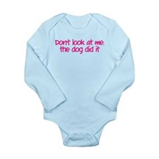 Don't look at me, the dog did it Onesie Romper Suit