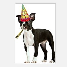 Boston Terrier Birthday Postcards (Package of 8)