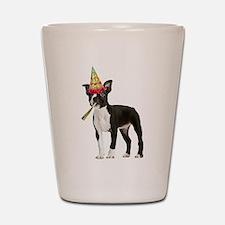 Boston Terrier Birthday Shot Glass