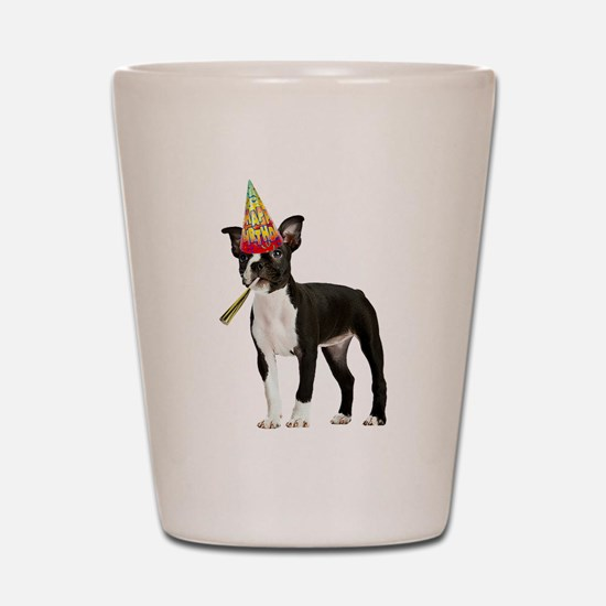 Boston Terrier Birthday Shot Glass