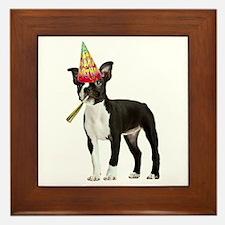 Boston Terrier Birthday Framed Tile
