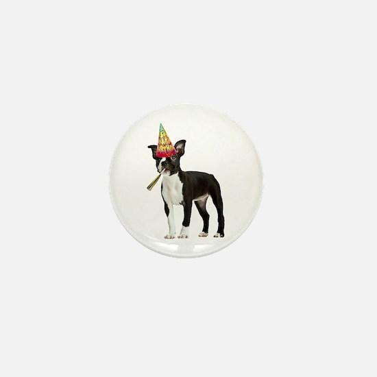 Boston Terrier Birthday Mini Button
